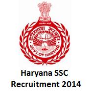 Haryana SSC Recruitment 2014