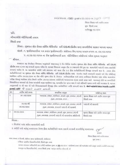Kutch District GAP 7 Second Semester Exam