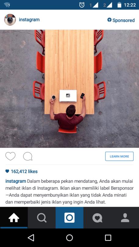 iklan pada instagram. https://instagram.com/papap_aila