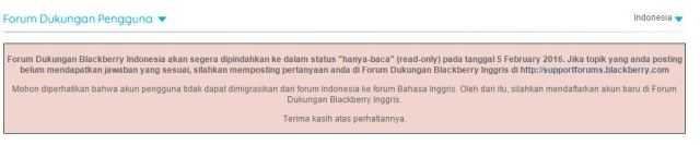 Pengumuman Forum Dukungan Blackberry via forumdukungan.blackberry.com