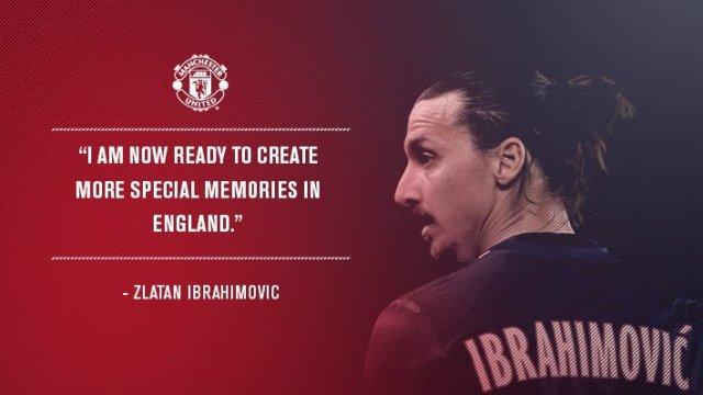 Gambar Zlatan Ibrahimovic transfer Manchester United via @manutd
