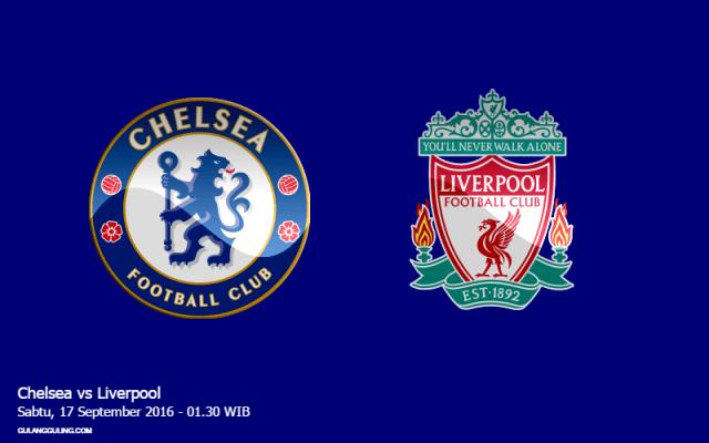 Gambar jadwal pertandingan Chelsea vs Liverpool Sabtu 17 September