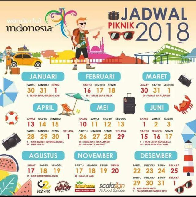 Hari dan tanggal libur nasional cuti bersama 2018