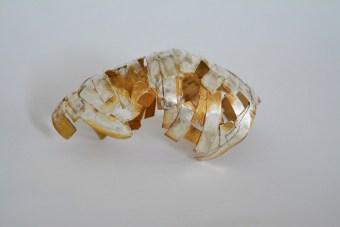 Nist 2015, Oxidized silver , gold plated 10x6x 7cm