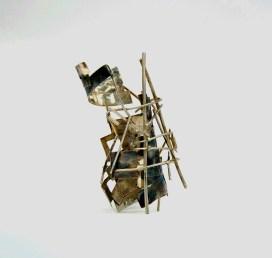 The tower of infinity III 2015 Oxidized silver9x6x7 cm