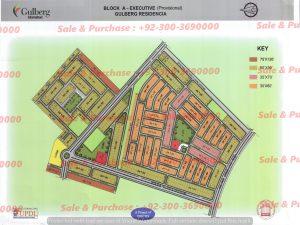 Gulberg Residencia Block A Executive MAp