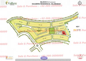 Gulberg Residencia Block E Map