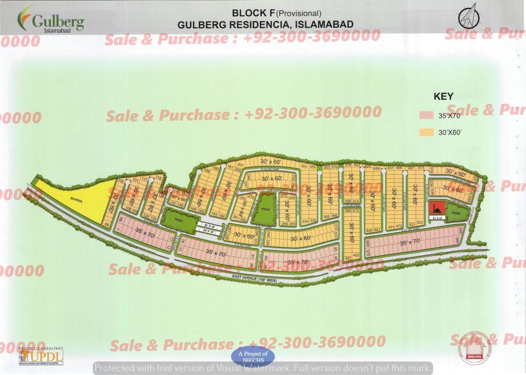Gulberg Residencia Block F Map
