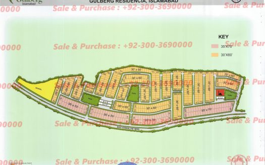 Gulberg Residencia Block F Map