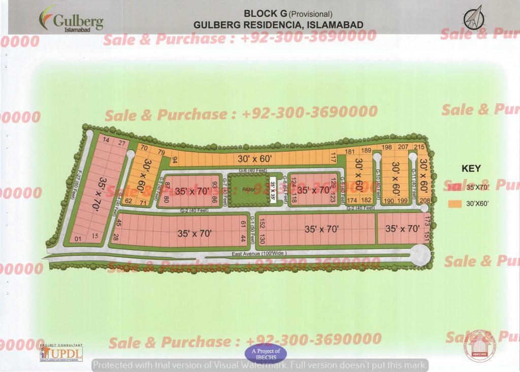 Gulberg Residencia Block G Map