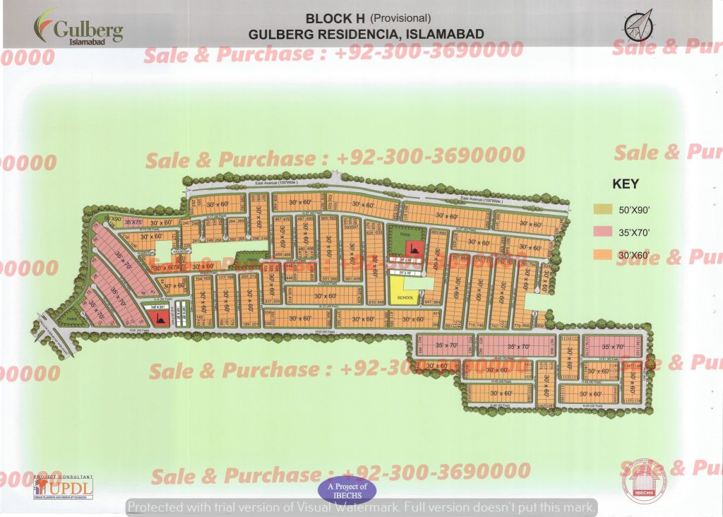 Gulberg Residencia Block H Map