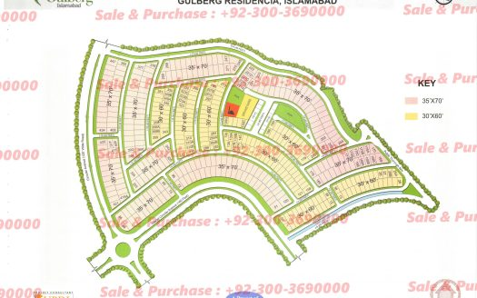 Gulberg Residencia Block I Map