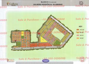 Gulberg Residencia Block P-2 Map