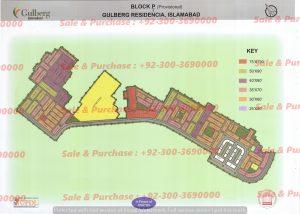 Gulberg Residencia Block P-3 Map