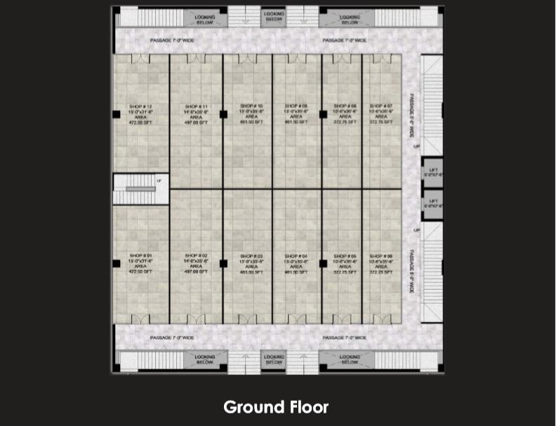 Gulberg Oasis ,Ground Floor plan