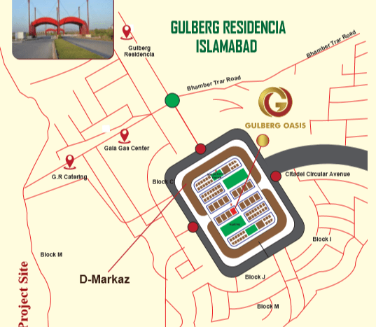 Gulberg Oasis Location