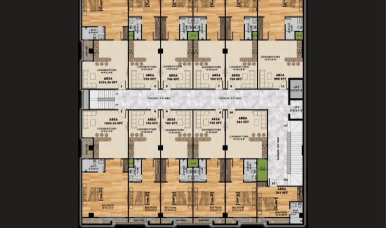 Gulberg Oasis third floor plan