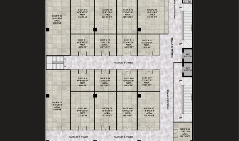 Gulberg Oasis ,First floor plan