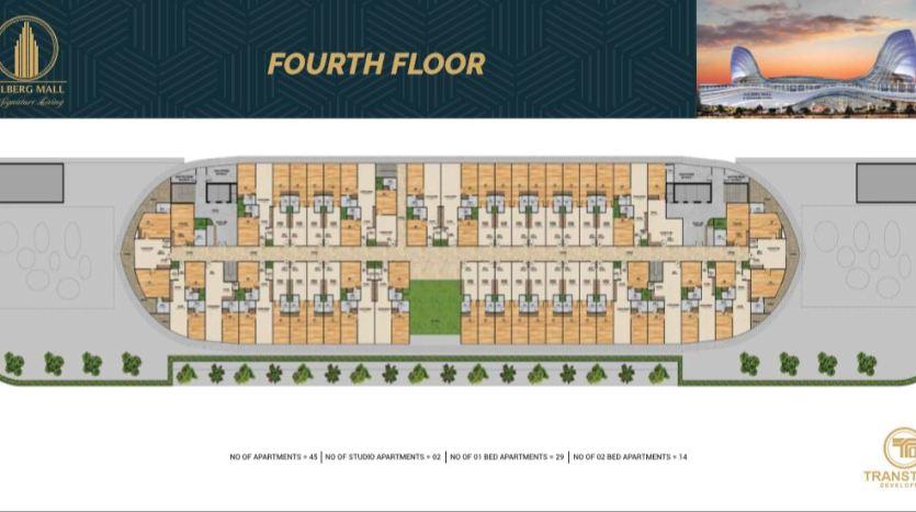 Gulberg Mall Fourth Floor Plan