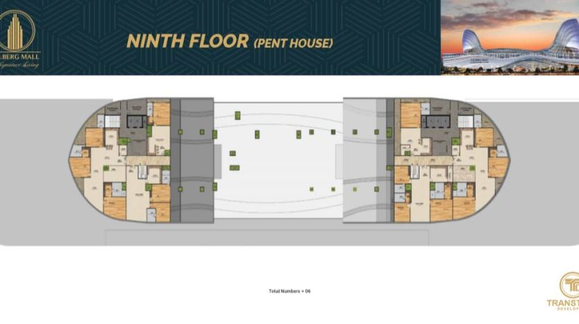 Gulberg Mall Ninth Floor Plan