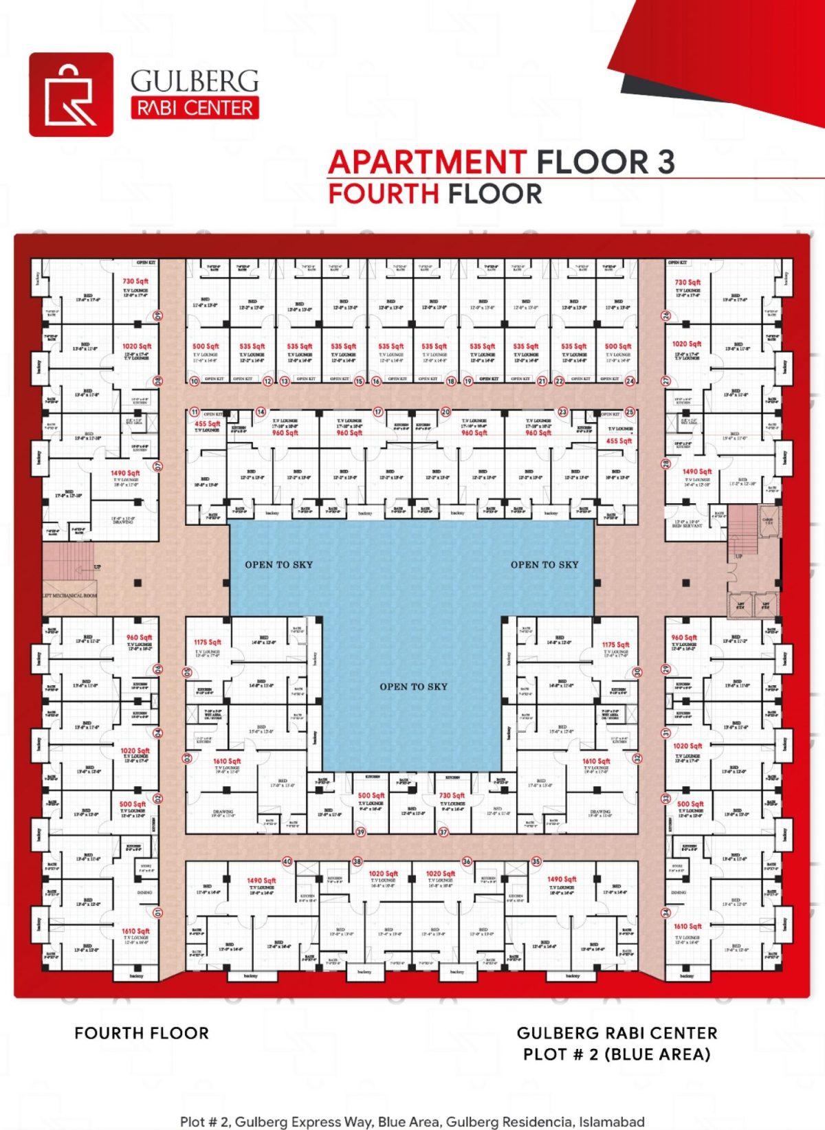Floor Plan Apartment Floor 3 - (Fourth Floor)