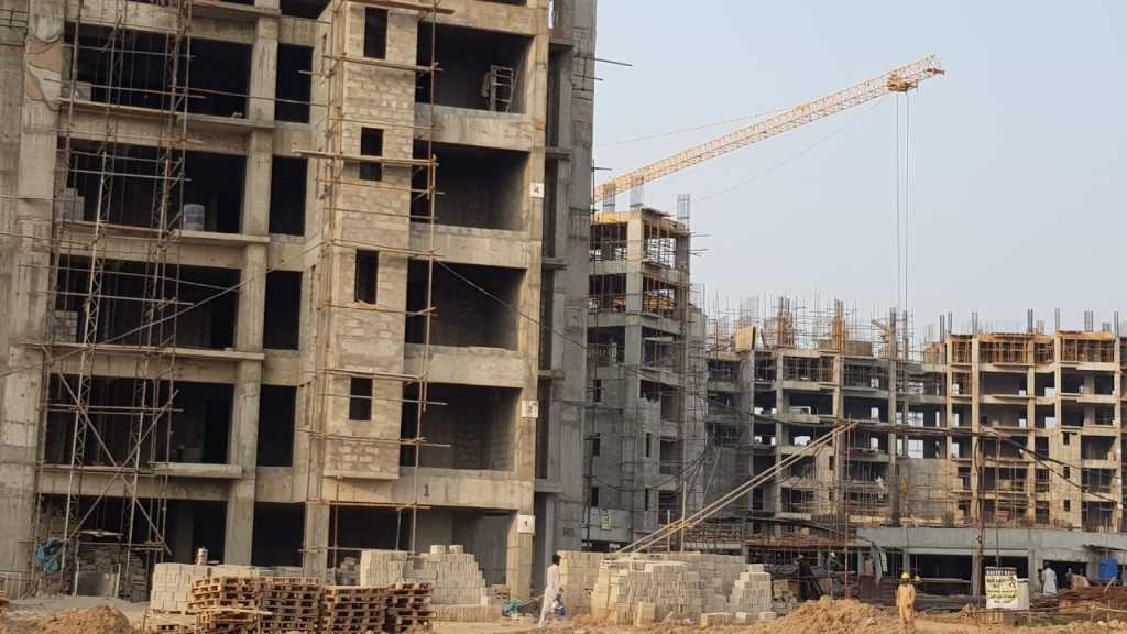 Towers under construction in Gulberg Islamabad
