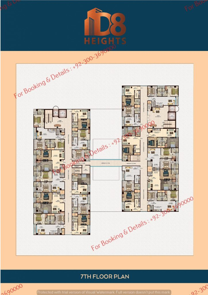 D 8 heights gulberg 7th floor plan