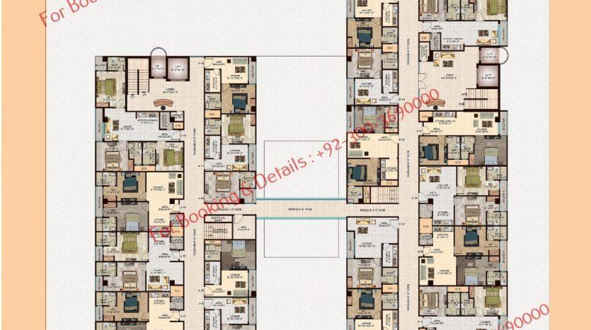 D 8 heights gulberg 7th floor plan