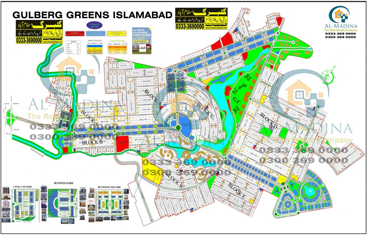 gulberg greens map