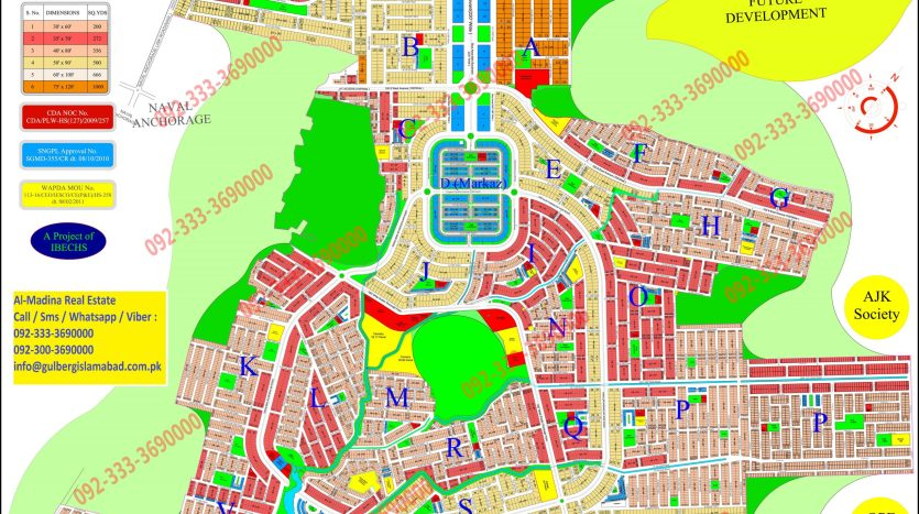 Gulberg Residencia Old Map