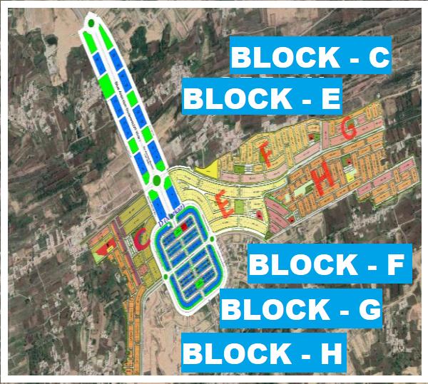 Gulberg residencia Block C,E,F,G,H Map