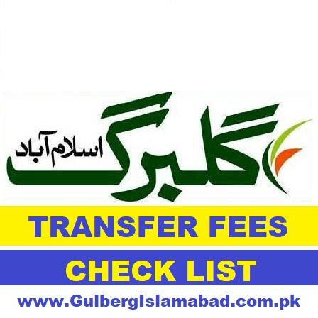 gulberg Islamabad transfer fees