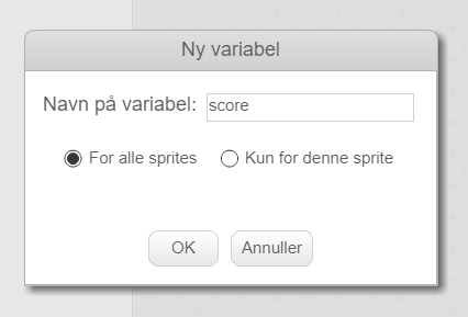 Variabler i Scratch