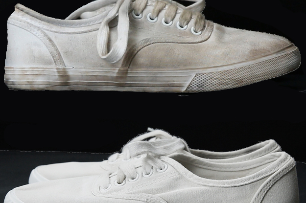 Clean your white sneakers