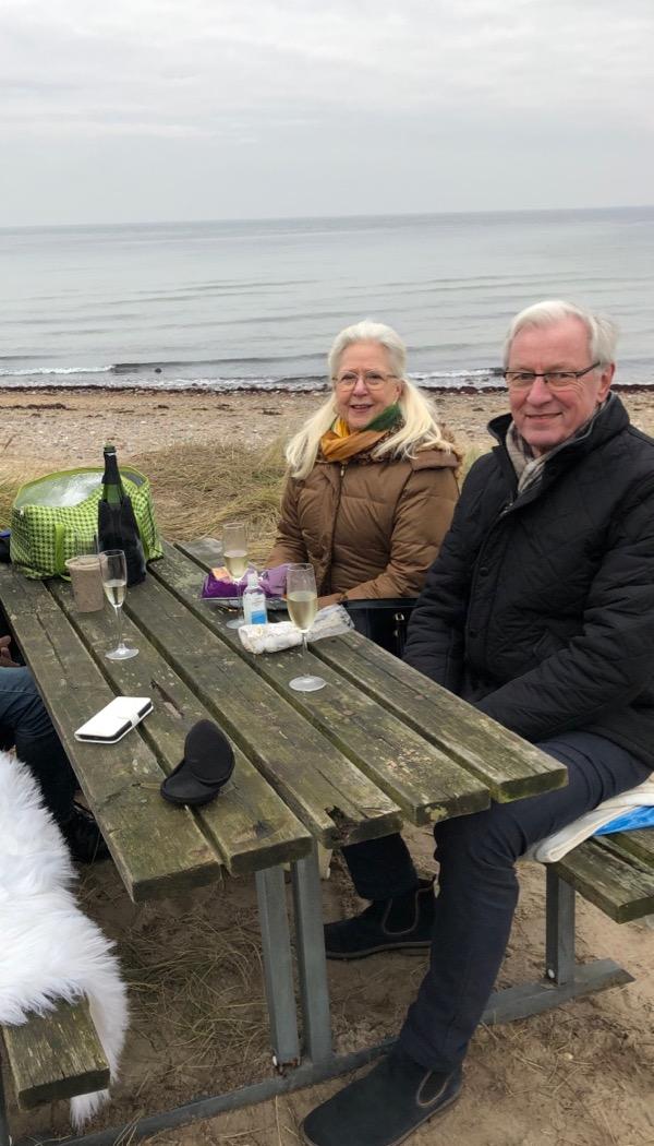 Chanpagne på stranden