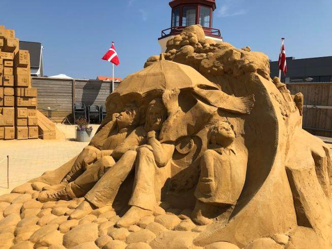 Hundested sandskulptur