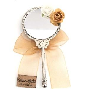 KELEBEK Ayna Metal Gerçek Ayna Organze Fiyonklu