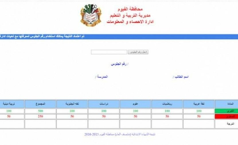 تراند اليوم اعلان نتيجة الشهادة الاعدادية محافظة الفيوم