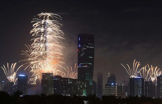 Dubai Celebrates New Year's Eve 2016