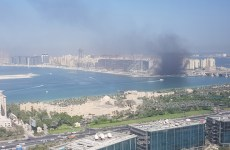 Fire breaks out at construction site on Dubai's Palm Jumeirah