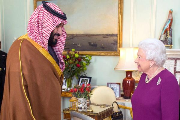 Hasil gambar untuk May defends Saudi ties as crown prince gets royal welcome in London
