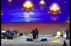 Saudi woman arrested for hugging male singer on stage