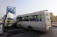 Bus driver dies in Abu Dhabi road accident