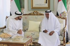 Video: UAE President receives Sheikh Mohamed at his residence in France