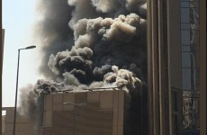 Video: Massive fire breaks out at National Bank of Kuwait HQ construction site