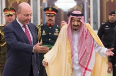 Saudi king meets with Iraq's President