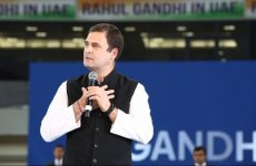 Indian politician Rahul Gandhi meets leaders, workers and supporters in the UAE