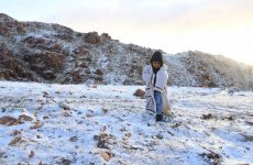 Pictures: Snow in Saudi mountains, thunderstorms forecast in parts of the country