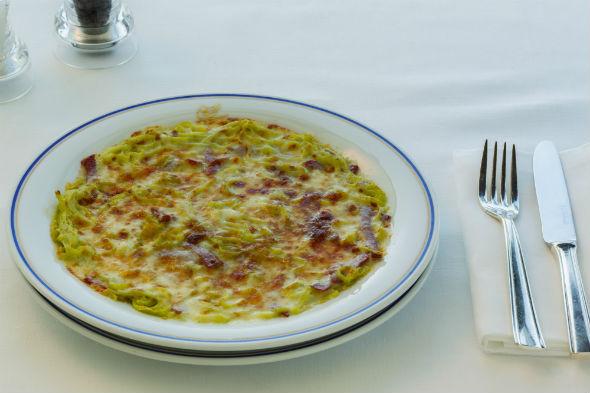 Baked Green Tagliolini with Bresaolaresize (2)