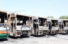 Saudi workers set fire to buses after '50,000 sacked'